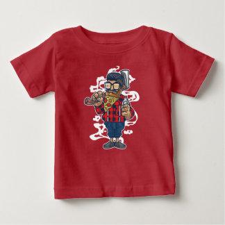 Camiseta Para Bebê O t-shirt do bebê da barba da pizza