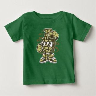 Camiseta Para Bebê O t-shirt do bebê da granada