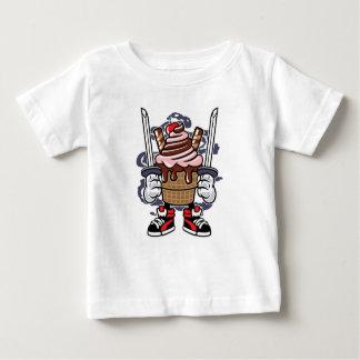 Camiseta Para Bebê O t-shirt do bebê de Ninja do sorvete