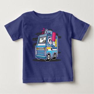 Camiseta Para Bebê O t-shirt do bebê do caminhão do sorvete