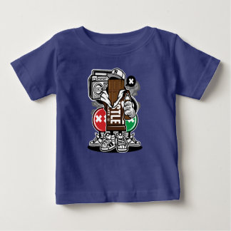 Camiseta Para Bebê O t-shirt do bebê do pelotão do chocolate