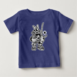 Camiseta Para Bebê O t-shirt do bebê do samurai
