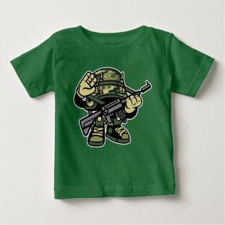 Camiseta Para Bebê O t-shirt do bebê do soldado