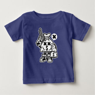 Camiseta Para Bebê O t-shirt do bebê dos compradores do dinheiro