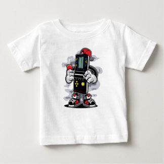 Camiseta Para Bebê O t-shirt do bebê dos Gamers do tijolo