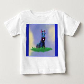 Camiseta Para Bebê O t-shirt do miúdo do cão do Scottie