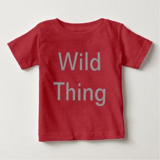 Camiseta Para Bebê O t-shirt do miúdo selvagem da coisa