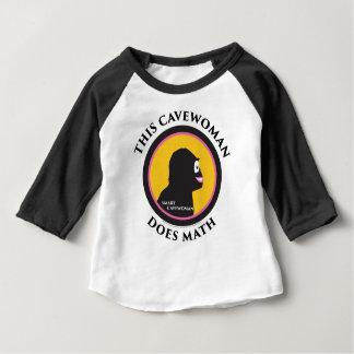 Camiseta Para Bebê O t-shirt do Raglan do bebê este Cavewoman