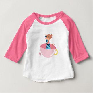 Camiseta Para Bebê O t-shirt pequeno do bebê do explorador do rato