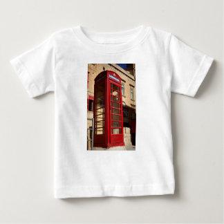 Camiseta Para Bebê O Telephonebox vermelho