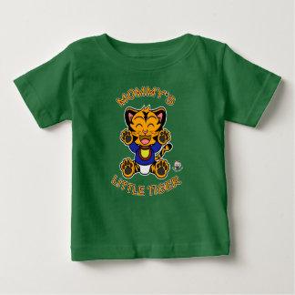 Camiseta Para Bebê O tigre feliz alaranjado pequeno da mamã - t-shirt