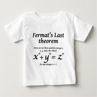 Camiseta Para Bebê O último teorema de Fermat