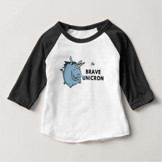 Camiseta Para Bebê O unicórnio bravo o mais tarde