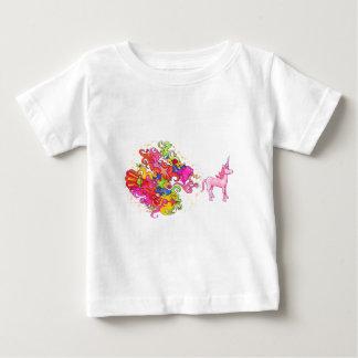 Camiseta Para Bebê O unicórnio Fart