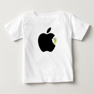 Camiseta Para Bebê O verme gosta da maçã