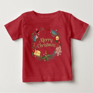 Camiseta Para Bebê O Xmas festivo do feriado do Feliz Natal caçoa o T