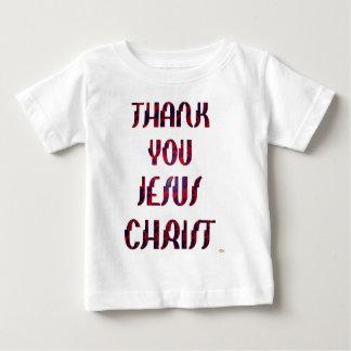 Camiseta Para Bebê Obrigado JESUS