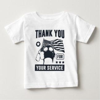 Camiseta Para Bebê Obrigado para seu serviço
