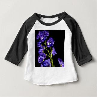 Camiseta Para Bebê Obscurece lilás flor