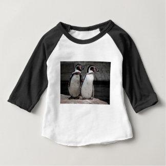 Camiseta Para Bebê Observação dos pinguins