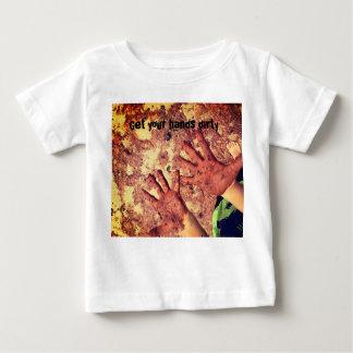 Camiseta Para Bebê Obtenha suas mãos sujas