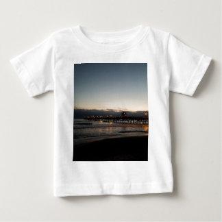 Camiseta Para Bebê oceano Califórnia do nighttime do cais de San