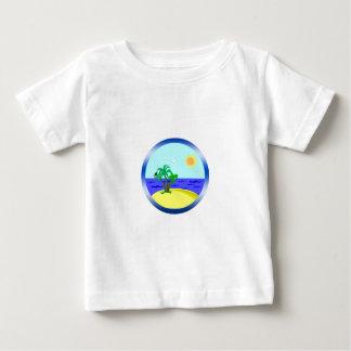 Camiseta Para Bebê Oceano e luz solar