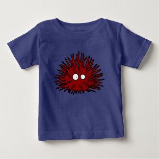 Camiseta Para Bebê Oceano vermelho uni espinhoso do ouriço do