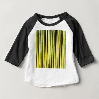 Camiseta Para Bebê Ocre amarelo e linhas Stripy teste padrão de Brown