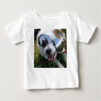 Camiseta Para Bebê Óculos de sol no FUTURO BRILHANTE do cão para MIM