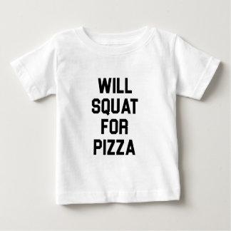 Camiseta Para Bebê Ocupa para a pizza