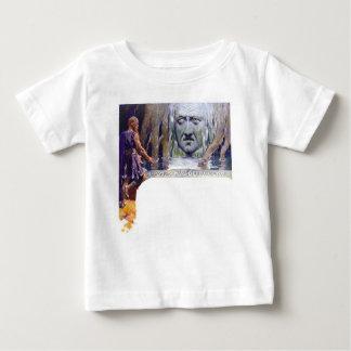 Camiseta Para Bebê Odin na frente de Mimir