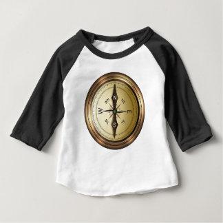 Camiseta Para Bebê Oeste do sudeste do norte de compasso