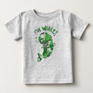 Camiseta Para Bebê Oh baleia
