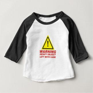 Camiseta Para Bebê Oject pesado de advertência