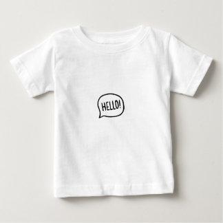 Camiseta Para Bebê Olá!! Mundo! Eu estou aqui