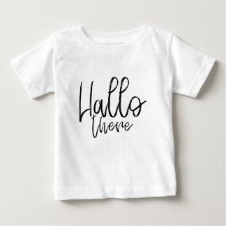 Camiseta Para Bebê Olá! palavras lá de fala