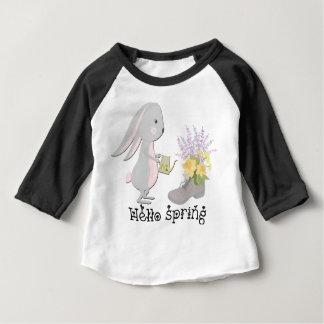 Camiseta Para Bebê olá! primavera