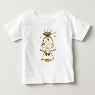 Camiseta Para Bebê Olhar bonito do ouro do halo do anjo do bebê da