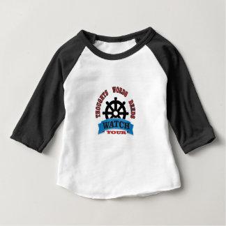 Camiseta Para Bebê olhe suas ações das palavras dos pensamentos