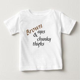 Camiseta Para Bebê Olhos de Brown e coxas robustas