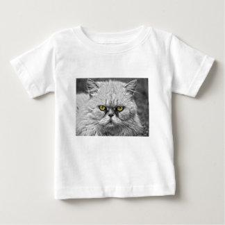 Camiseta Para Bebê Olhos de gato dourados irritados