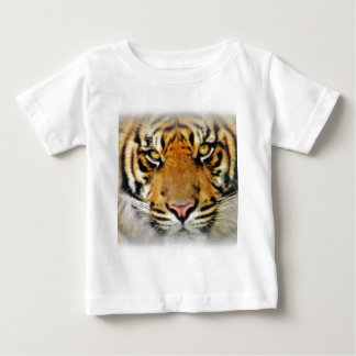 Camiseta Para Bebê Olhos do tigre, Love_