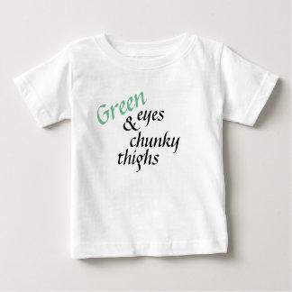 Camiseta Para Bebê Olhos verdes e coxas robustas