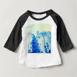 Camiseta Para Bebê Onda e bolhas