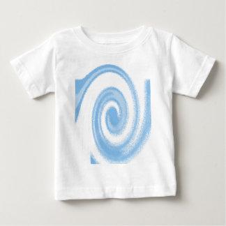 Camiseta Para Bebê Onda espiral gráfica azul e branca de Digitas
