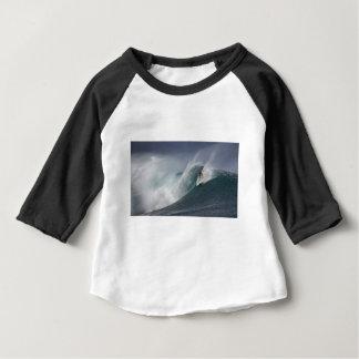 Camiseta Para Bebê Onda surfando abstrata do mar