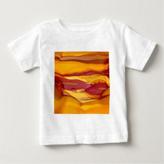 Camiseta Para Bebê ondas ambarinas da grão
