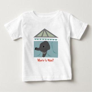 Camiseta Para Bebê Onde está a mamã? TShirt dos miúdos