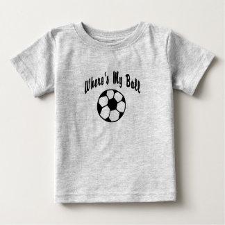 Camiseta Para Bebê Onde está minha bola de futebol?